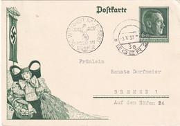 ALLEMAGNE 1938   ENTIER POSTAL/GANZSACHE/POSTAL STATIONARY  CARTE ILLUSTREE DE EGER - Postwaardestukken