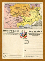 """FRANCHISE MILITAIRE : """" CARTE DU FRONT ORIENTAL - HONGRIE-ROUMANIE """" - Lettere In Franchigia Militare"""
