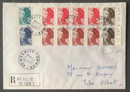 France Libérté De Gandon, Carnet Entier Sur Enveloppe Recommandée + N°2240 Et 2190 - 12.6.1987 - (B3635) - 1961-....