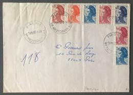 France Divers Liberté De Gandon Sur Enveloppe Par Pneumatique 30.3.1984 - (B3636) - 1961-....
