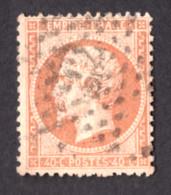 Napoléon III - N° 23 Orange Terne - Oblitération Paris étoile 22 - 1862 Napoleon III