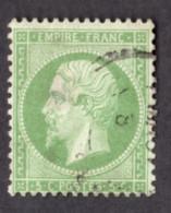 Napoléon III - N° 20 Vert - Oblitération CàD - 1862 Napoleon III