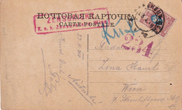 RUSSIE 1918 CARTE CENSUREE DE KAMENETS POUR WIEN - Briefe U. Dokumente