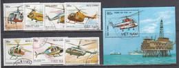 Vietnam 1989 - Helicopters, Mi-Nr. 2014/20+Bl. 68, Used - Vietnam
