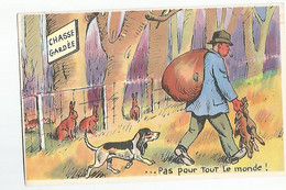 CPA Chasse Humour  Chasse Gardée  Chasseur - Caccia