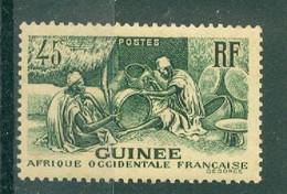 GUINEE - N° 159** MNH SCAN DU VERSO - Les Laobis, Artisans Du Bois. Type De 1938. - Nuovi