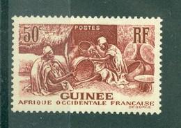 GUINEE - N° 135** MNH SCAN DU VERSO - Les Laobis, Artisans Du Bois. - Nuovi