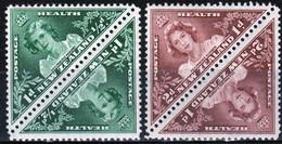 New Zealand 1943 Two Sets Of Triangular Health Stamps Showing Princess Margaret And Elizabeth - Ongebruikt