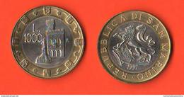 San Marino 1000 Lire 1997 Bimetallico Bimètallique Sain Marin - Saint-Marin