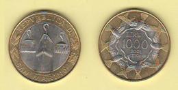 San Marino 1000 Lire 2001 Bimetallico Bimètallique Sain Marin - Saint-Marin