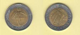 San Marino 500 Lire 1985 Bimetallico Bimètallique Sain Marin - Saint-Marin