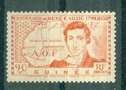 GUINEE - N° 148** MNH SCAN DU VERSO - Centenaire De La Mort De L'explorateur René Caillié. - Nuovi