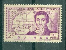 GUINEE - N° 149** MNH SCAN DU VERSO - Centenaire De La Mort De L'explorateur René Caillié. - Nuovi