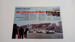 Coupure De Presse Automobile De 1986 Henri Pescarolo-Mes 5OO Heures Du Mans - Sport