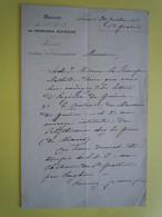 AUTOGRAPHE Baronne Marie De GALBOIS Secrétaire PRINCESSE MATHILDE Bonaparte - Autographs