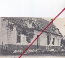 CP 62   -   RIVIERE    - GUERRE DE 1914 -   Maison Bombardée Route De Berles - Other Municipalities