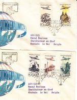 Pologne - Lettre De 1957 - Oblit Warsawa - Exp Vers Hautain Le Val - Avions - Vues De Pologne - Covers & Documents