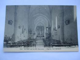SAINT FORT Sur LE NE - L' Eglise, Vue Interieure - TBE - Otros Municipios