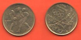 San Marino 200 Lire 1980 Olimpiadi Lotta Greco Romana Saint Marin - Saint-Marin