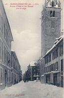 CPA 04 - VALLÉE DE L'UBAYE - BARCELONNETTE - Avenue D'Italie Et Rue Manuel Avec La Neige - COCHE N° 125 - Barcelonnette