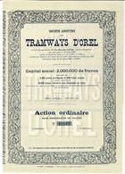 Titre Ancien - Sté Anonyme Des Tramways D' Orel - Titre De 1905 N° 10819 - Railway & Tramway