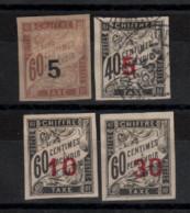 Chine _  Timbres Taxe - (1905 ) N° 1/ 4 Non Dentelé - Non Classés