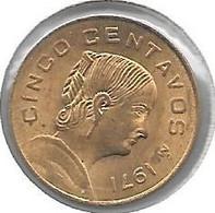 *mexico 5 Centavos 1971 Km 42 7  Unc - Mexico