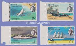BRITISH INDIAN OCEAN TERRITORY 1969  S.G. 32-35  ISLAND SHIPS  U.M. - Sonstige