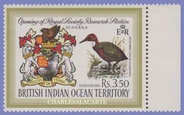 BRITISH INDIAN OCEAN TERRITORY 1971  S.G. 40  ALDABRA & RAIL BIRD U.M. - Sonstige