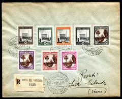 G10-124 CITTÀ DEL VATICANO 1943 Tre Raccomandate Affrancate Con La Serie Giardini E Medaglioni, Tutti I 13 Valori Ancora - Lettres & Documents