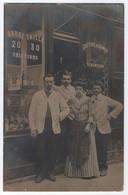 CARTE PHOTO : MAISON R. H...TIN - COIFFEUR - COIFFURE DAMES - BARBIER - TAILLE BARBE - CORCITE - FLOREINE - ECRITE 1906 - A Identificar