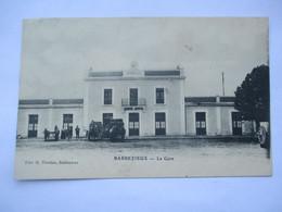 BARBEZIEUX - La GARE -Avec Attelage Et  Diligences - Voyagée En 910 - TBE - Other Municipalities