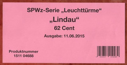 Verkaufsverpackung Inhaltsblatt, SPWz Leuchtturm Lindau, 2015 (3011) - Covers & Documents