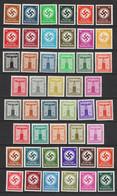 D 132-143, 144-154, 155-165, 166-177 ** - Dienstzegels