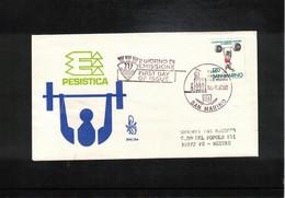 San Marino 1980 European Junior Weightlifting Championship FDC - Weightlifting