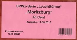 Verkaufsverpackung Inhaltsblatt, SPWz Leuchtturm Moritzburg, 2015 (3013) - Covers & Documents