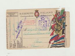 FRANCHIGIA POSTA MILITARE 262 DEL 1918 - ANNULLO 6 REGG FANTERIA COMANDO- CENSURA WW1 - Franchigia