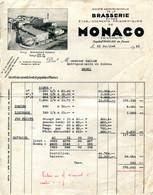 FACTURE BRASSERIE DE MONACO 31 JUILLET 1951 - Other