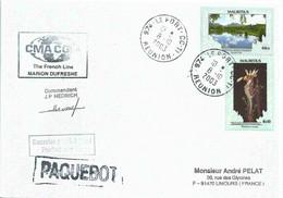 Protection De L'environnement - Lettre Postée à Bord Du MD - Le Port - La Réunion - 08/10/2003 - Maurice (1968-...)