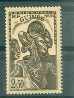 GUINEE - N° 168** MNH SCAN DU VERSO - Types De 1938. - Nuovi