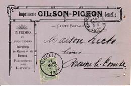 """Jemelle Imprimerie Gilson Pigeon """" Parchemins Pour Laiterie """" - Rochefort"""