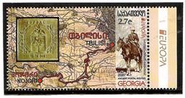"Georgia 2020 . EUROPA  ""Ancient Postal Routes"" (Maps,Horses). 1v:2.70 - Georgien"