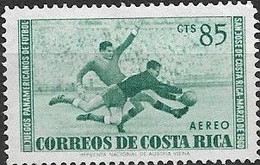 COSTA RICA 1960 Air. Third Pan-American Football Games - 85c. Goalkeeper Seizing Ball MNG - Costa Rica