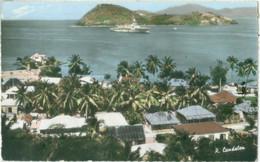 Guadeloupe Saintes Terre De Haut; L'Ilet à Cabrits Et La Jeanne En Rade - Voyagé. (P. Candalen, Point-à-Pitre) - Otros