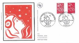 Enveloppe 1er Jour Marianne Des Français (tvp Rouge Gommé Et Adhésif), 2005 (YT 3734-44) - 2000-2009