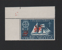 Faux Saint-Pierre Et Miquelon N° 315b, 50 C Sur 5 C Double Surcharge Gomme Sans Charnière - Nuovi