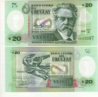 URUGUAY New 20 Pesos Uruguayos  Pnew  POLIMER   Dated 2020  UNC - Uruguay