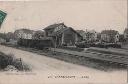 CPA 25 CHARQUEMONT Gare Train - Sonstige Gemeinden