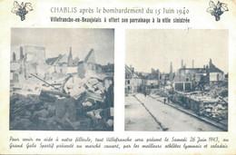 H1801 - CHABLIS Après Le Bombardement Du 15 Juin 1940 - D89 - Chablis