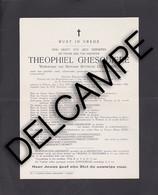 "Geluwe - Doodbrief ""Ghesquiere Theophiel"" 1854-1940 - Burgermeester Geluwe - Wervik"